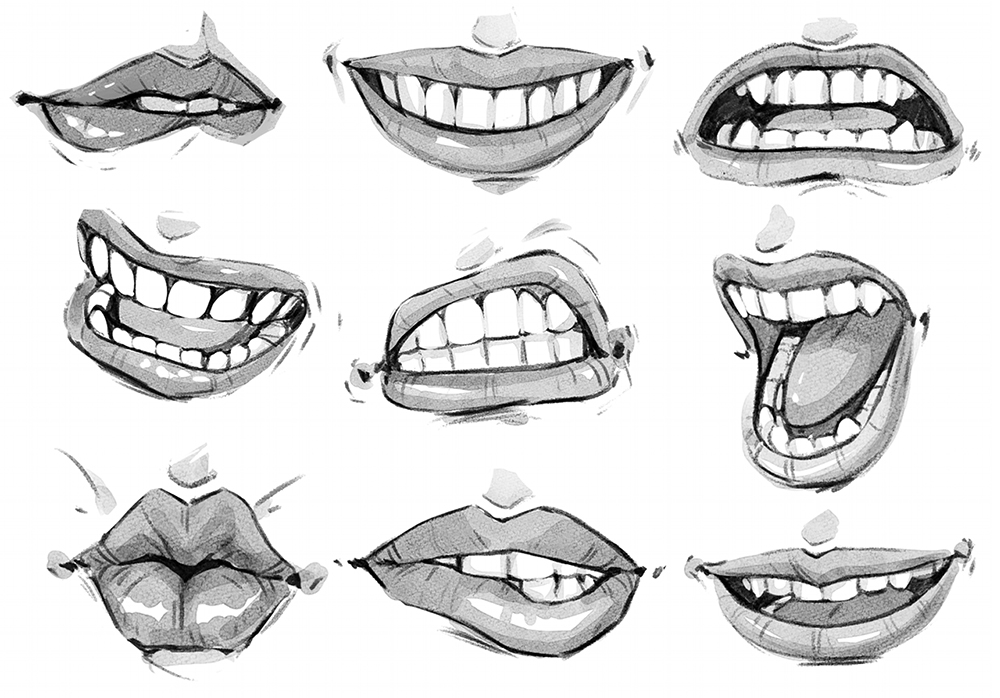 キャラクターの表情を豊かにする口と唇の描き方 | イラスト・マンガ ...