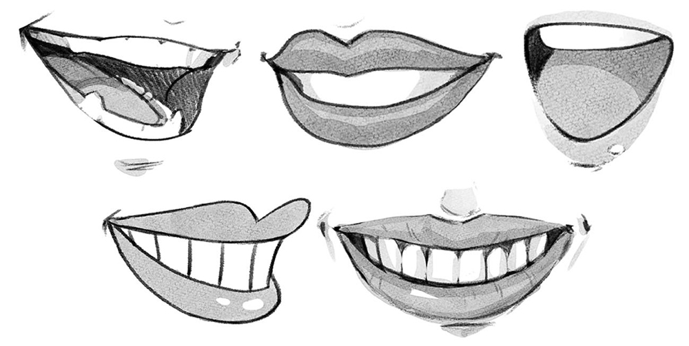Drawing Mouths And Lips Art Rocket