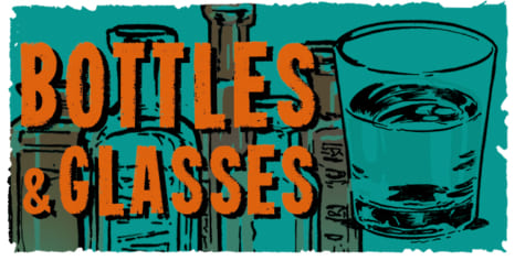 How to draw bottles and glasses