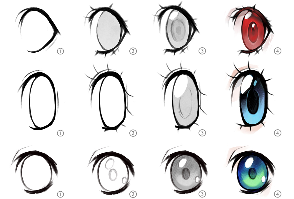 How To Draw Anime Eyes Art Rocket