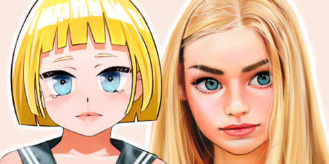 How to Draw Hair in Manga and Semi-Realistic Styles
