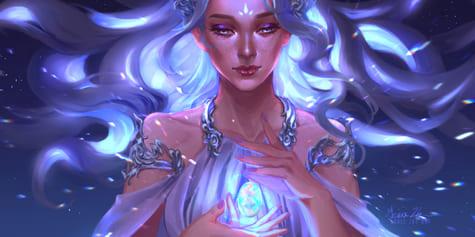 So zeichnest du Leuchteffekte für magische Porträts