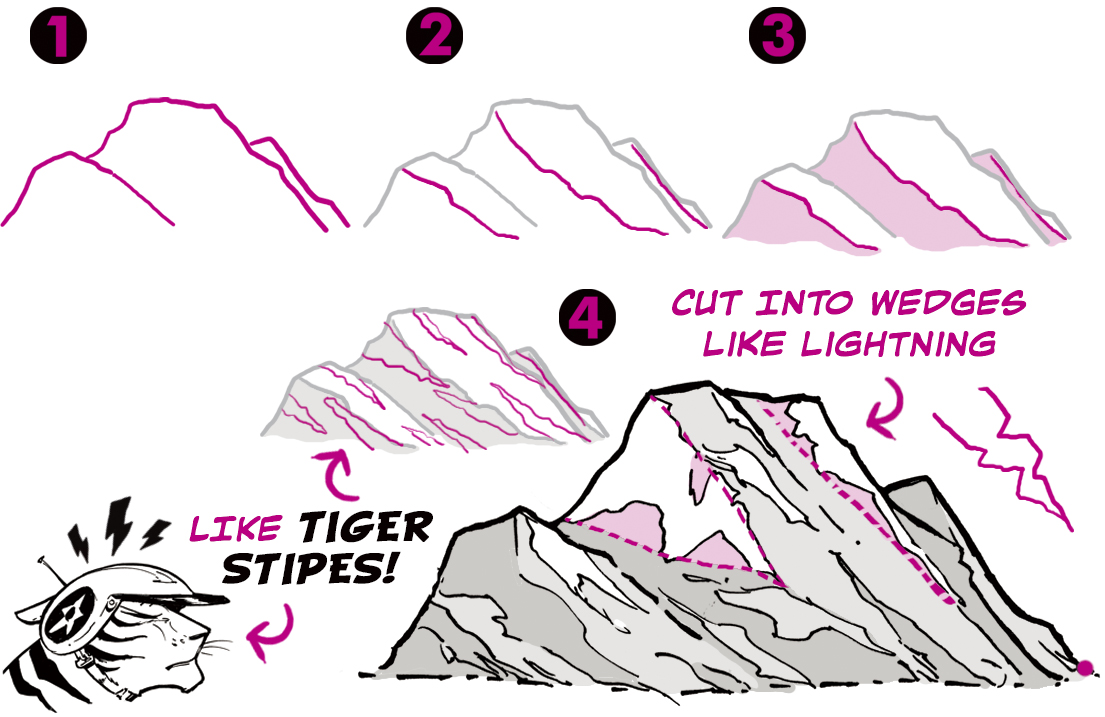 How To Draw Mountains   Art Rocket