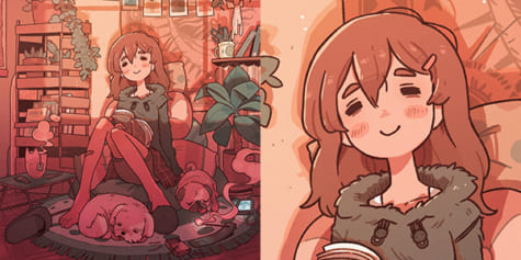 How to Add loads of Details to an Illustration -but not too many-